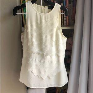 New Banana Republic sleeveless ivory blouse top